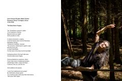 7 - Carol Vincent-Smythe, Ballet Teacher with her woodland ballet barre